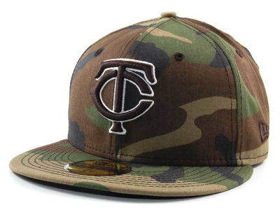 Minnesota Twins MLB BC Camo 59FIFTY Hats