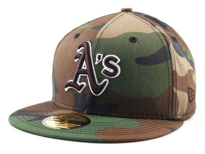 Oakland Athletics MLB BC Camo 59FIFTY Hats
