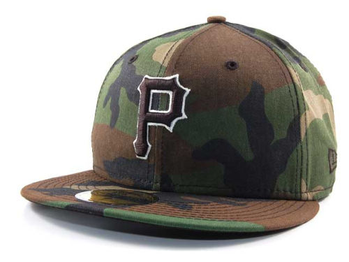 Pittsburgh Pirates New Era MLB BC Camo 59FIFTY Hats