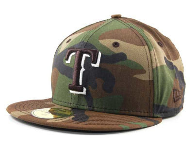 Texas Rangers MLB BC Camo 59FIFTY Hats