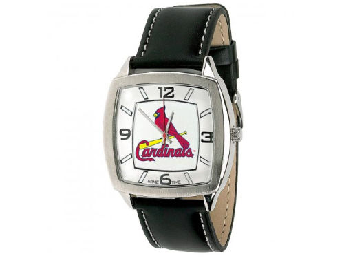 St. Louis Cardinals Game Time Pro Retro Leather Watch
