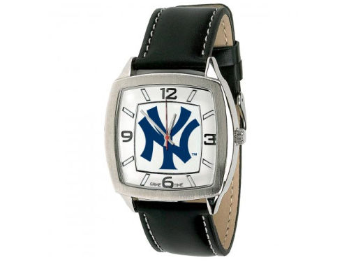 New York Yankees Retro Leather Watch