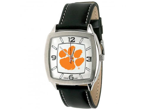 Clemson Tigers Retro Leather Watch