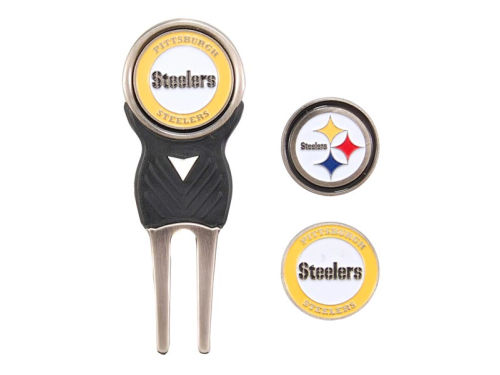 Pittsburgh Steelers Team Golf Divot Tool and Markers