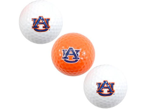 Auburn Tigers Team Golf 3pk Golf Ball Set