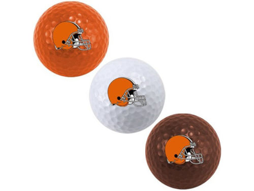Cleveland Browns Team Golf 3pk Golf Ball Set