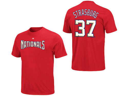 Washington Nationals Stephen Strasburg Majestic MLB Youth Player T-Shirt