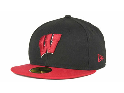 Wisconsin Badgers NCAA 2 Tone 59FIFTY Cap Hats
