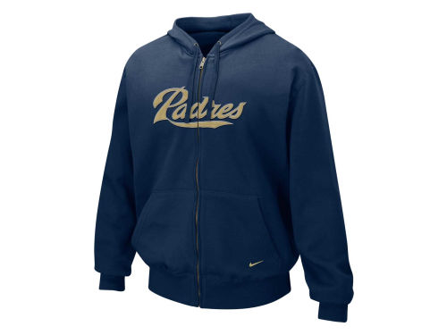 San Diego Padres Nike MLB Full Zip Tackle Hoody