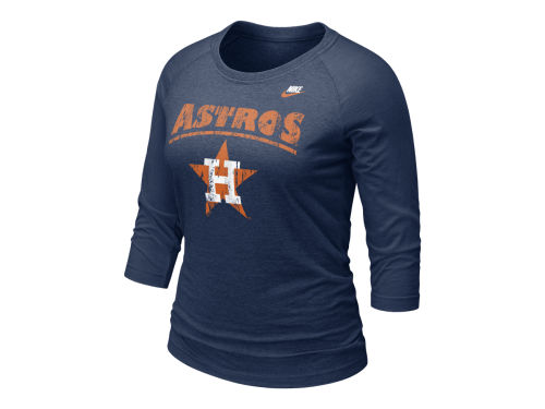 Houston Astros Nike MLB Womens Cooperstown Magic Raglan T-Shirt
