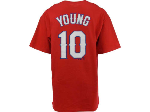 Texas Rangers Michael Young Majestic MLB Player T-Shirt