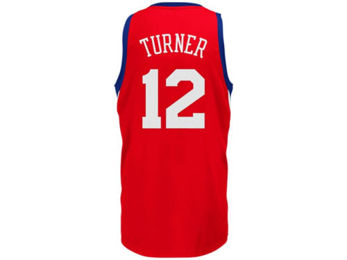 Philadelphia 76ers Evan Turner adidas NBA Revolution 30 Swingman Jersey