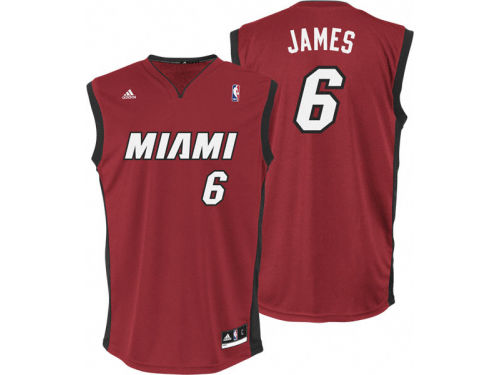 Miami Heat Lebron James Outerstuff Youth NBA Revolution 30 Jersey