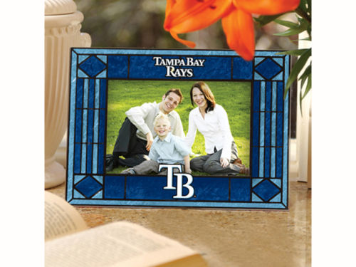 Tampa Bay Rays Art Glass Picture Frame