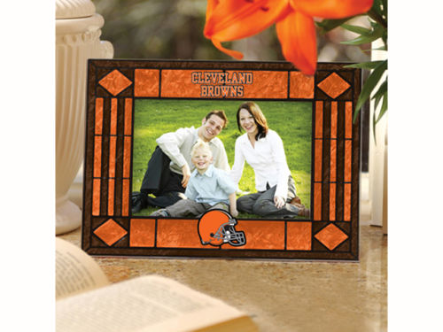 Cleveland Browns Art Glass Picture Frame