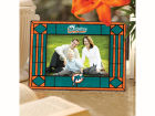 Miami Dolphins Art Glass Picture Frame Bed & Bath