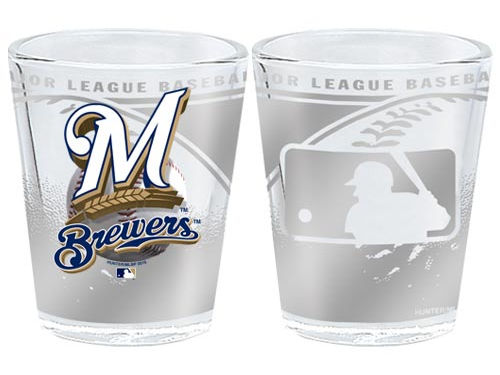 Milwaukee Brewers 3D Wrap Collector Glass