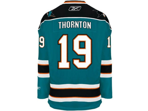 San Jose Sharks Joe Thornton Reebok NHL Premier Player Jersey