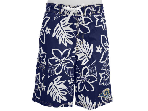 St. Louis Rams GIII NFL Hawaiian Print Swim Trunks