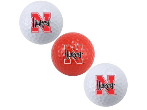 Nebraska Cornhuskers Team Golf 3-pack Golf Ball Set