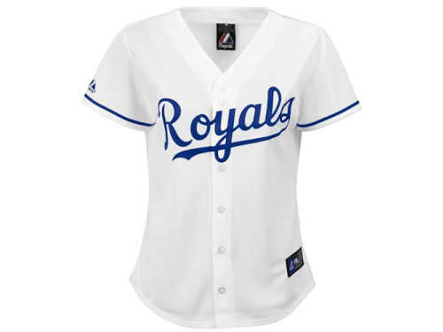 Kansas City Royals Majestic MLB Womens Replica Jersey
