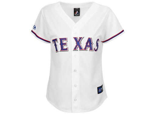Texas Rangers Majestic MLB Womens Replica Jersey