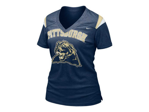 Pittsburgh Panthers Nike NCAA Womens Football Replica T-Shirt