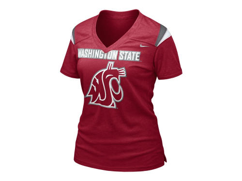 Washington State Cougars Nike NCAA Womens Football Replica T-Shirt