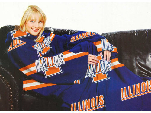 Illinois Fighting Illini Comfy Throw Blanket