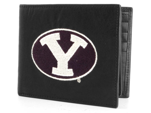 Brigham Young Cougars Rico Industries Black Bifold Wallet