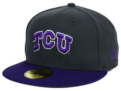 Texas Christian Horned Frogs NCAA 2 Tone Graphite and Team Color 59FIFTY Cap Hats