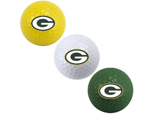 Green Bay Packers Team Golf 3-pack Golf Ball Set