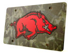 Arkansas Razorbacks Camo Laser Tag Auto Accessories