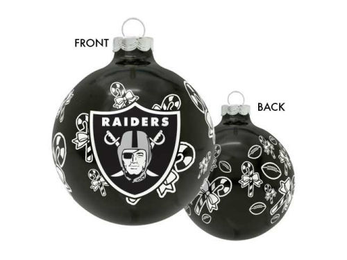 Oakland Raiders Traditional Round Ornament