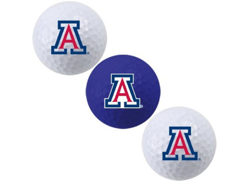 Arizona Wildcats Team Golf 3pk Golf Ball Set
