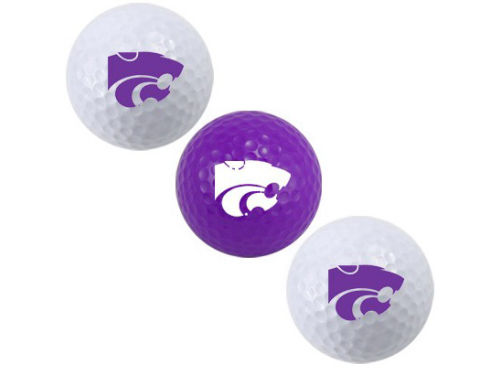Kansas State Wildcats Team Golf 3pk Golf Ball Set