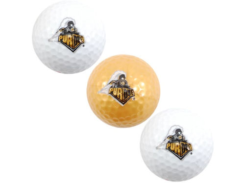 Purdue Boilermakers Team Golf 3pk Golf Ball Set