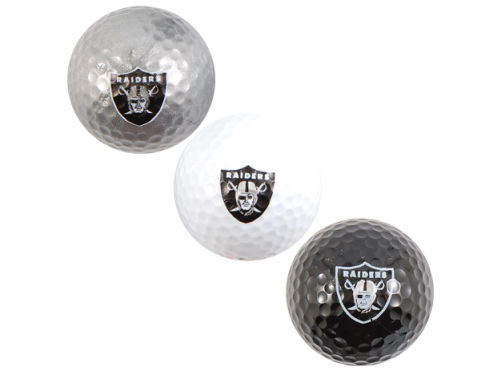 Oakland Raiders 3pk Golf Ball Set