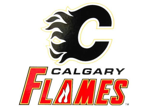 Calgary Flames Rico Industries Static Cling Decal