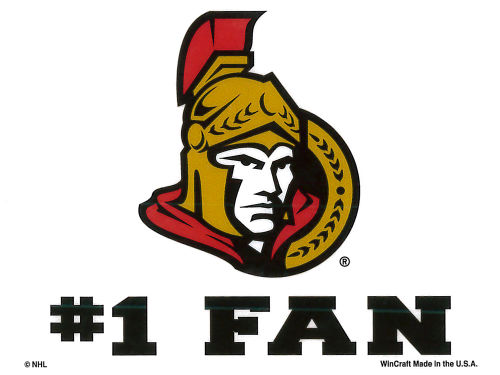 Ottawa Senators Rico Industries Static Cling Decal