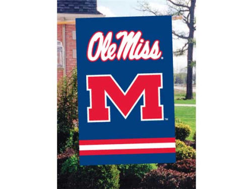 Mississippi Rebels Applique House Flag