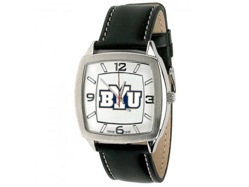 Brigham Young Cougars Retro Leather Watch