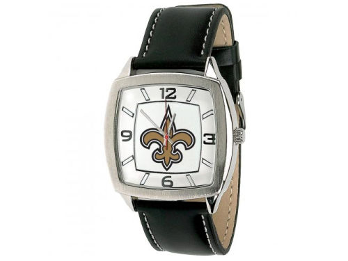 New Orleans Saints Game Time Pro Retro Leather Watch