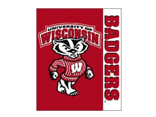 Wisconsin Badgers 50x60in Plush Throw Blanket