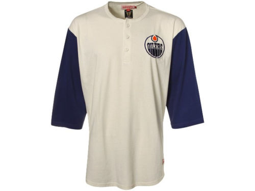 Edmonton Oilers Mitchell and Ness NHL Breakout Raglan