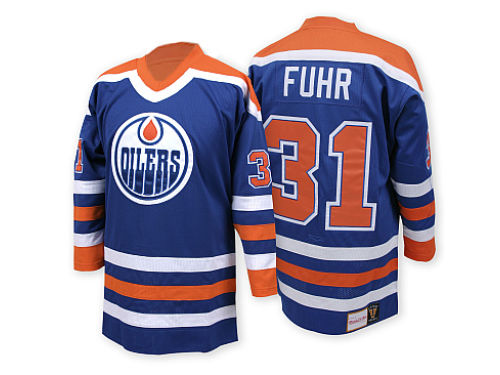 Edmonton Oilers Grant Fuhr Mitchell and Ness NHL Authentic Jersey