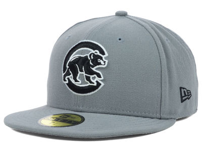 Chicago Cubs MLB Gray BW 59FIFTY Cap Hats