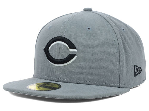 Cincinnati Reds New Era MLB Gray BW 59FIFTY Cap Hats