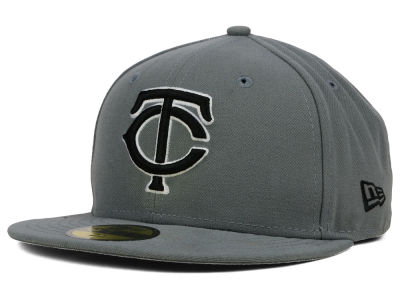 Minnesota Twins MLB Gray BW 59FIFTY Cap Hats