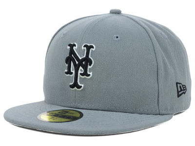 New York Mets MLB Gray BW 59FIFTY Cap Hats